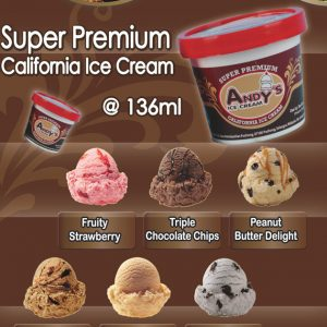 Andy's Super Premium Ice Cream 136ml Cup