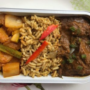 Nasi Minyak wih Ayam Masak Merah & Acar Rampai