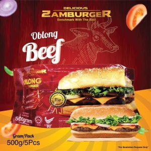 ZAMBURGER BEEF OBLONG